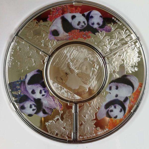 1кг-серебро-Китай-монета-1000г-серебро-99-99-Зодиак-серебро-монеты-panda @2 фото