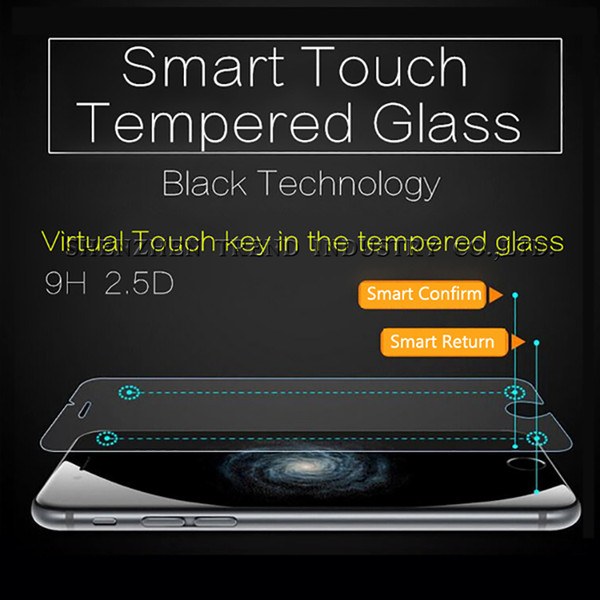 Smart Touch Shortcuts Keys Tempered Glass Film 2.5D 9H Screen Protector For iPhone 6 Plus Magic Curved Confirm & Return Button