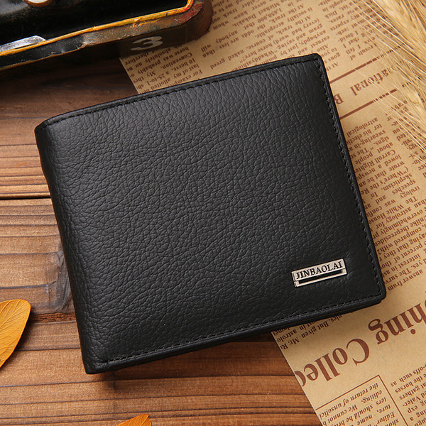 Hot Sale New style genuine leather hasp design men's wallets with coin pocket fashion brand quality purse wallet for men