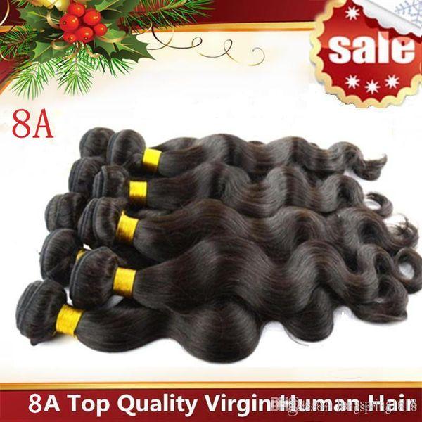 Capelli brasiliani del Virgin capelli umani tesse estensioni peruviano malese indiano cambogiana dei capelli del Virgin dell'onda del corpo Bundles Dyeable 7A migliore qualità