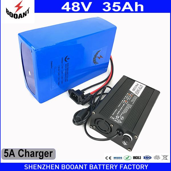 Booant duty to eu u e bike li ion battery 1800w 48v 35ah for bafang motor electric bike battery with 50a bm 5a charger