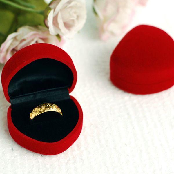 Серьга кольца ювелирных изделий формы сердца 50pcs / lot продавая венчание упаковки подарка упаковки коробки подарка HJ001r, $0.