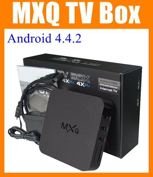 MXQ TV BOX androide Amlogic S805 Quad Core Android 4.4 MXQ cuadro de tv xxl sexo androide Amlogic cuadro de tv en vivo S805 cuádruple núcleo ott MXQ cuadro de tv OTH035
