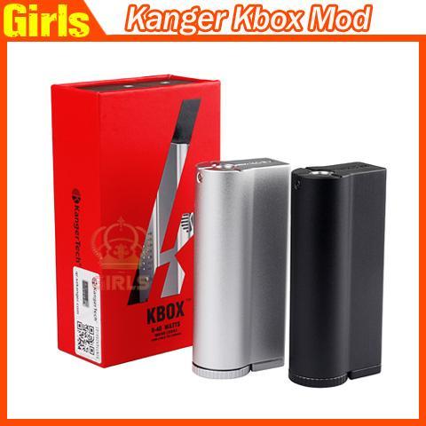 Autentica Kanger Kbox Mod Kanger 40Watt Mod Kbox 18650 Mod Kanger Kbox 40W Mod fit per Aspire Atlantis Kanger Subtank Clearomizer Ragazze