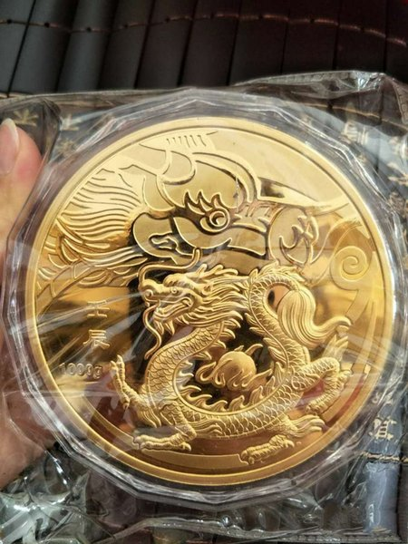 1кг-серебро-китай-монета 1000г-серебро-99-99-Зодиак-серебро-МОНЕТЫ Loong фото