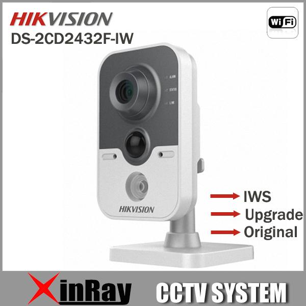 Multi Language Hikvision DS-2CD2432F-IW 3MP w / IP di POE telecamera di rete Microfono integrato DWDR 3D DNR BLC Wi-Fi DS-2CD2432F-I (w)
