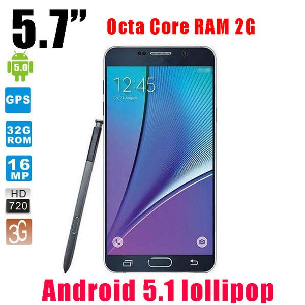 HDC 1: 1 Nota 5 Quad core spettacolo smart phone Octa Nucleo 3GB di RAM 32 GB ROM 4G LTE con Logo