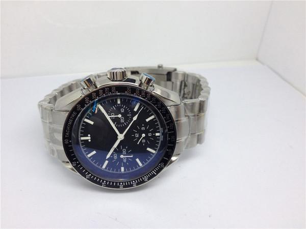 Marchio di qualità superiore orologio ETA 7750 movimento cronografico automatico orologi per uomo in acciaio inox banda orologio 068