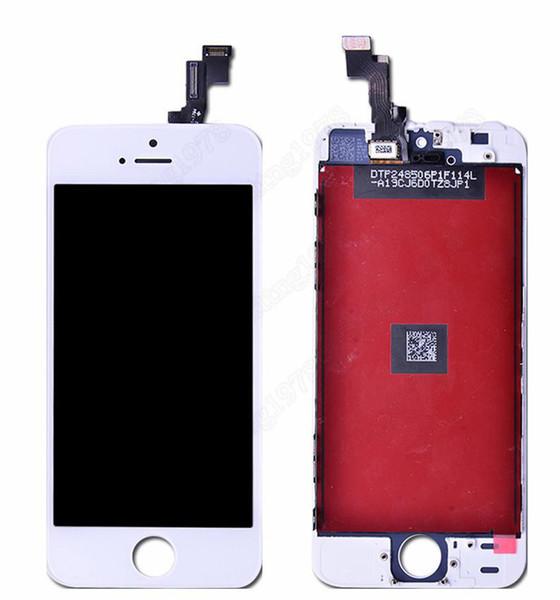 Nero Display LCD bianco dello schermo di tocco Digitizer Assemblea completa per iPhone 5S iphone 5C 5G sostituzione parti di riparazione DHL libera la nave