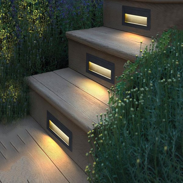 Thrisdar Ip65 Waterproof Led Step Light 3w 5w Outdoor Recessed Buried Lamp Porch Pathway Lobby Villa El Stair Wall Lamps