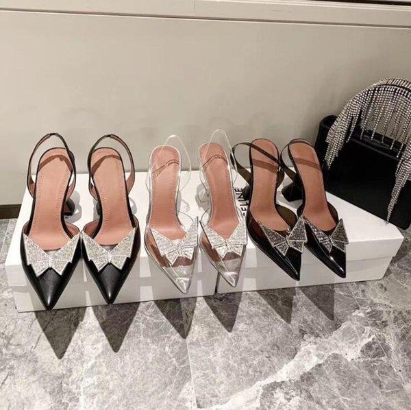 New Women Pumps Twin-Bow Golden Stiletto Heel Peep Shoes