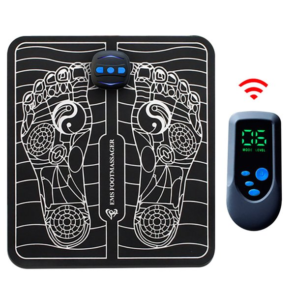 electric intelligent ems foot massage remote control pulse acupuncture usb charging blood circulation relieve ache pain foldable