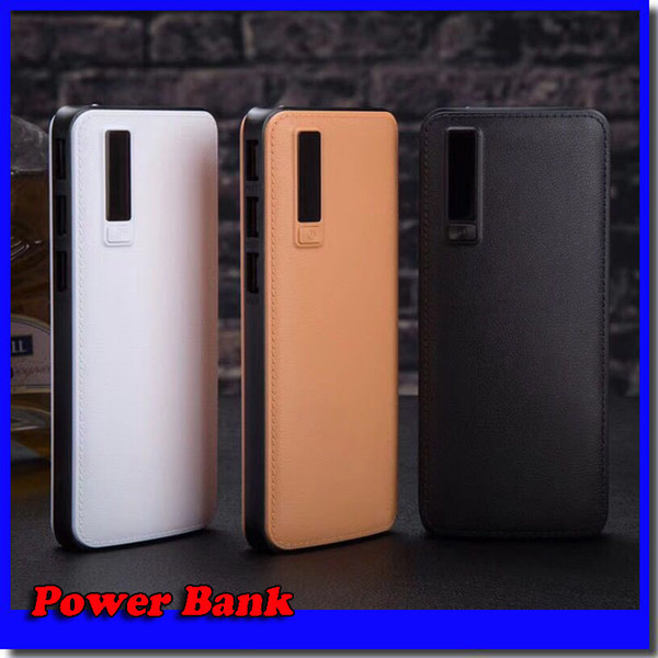 New  tyle 20000mah power bank 3u b external battery portable power bank charger with led light for iphone 8 x  am ung  8 univer al