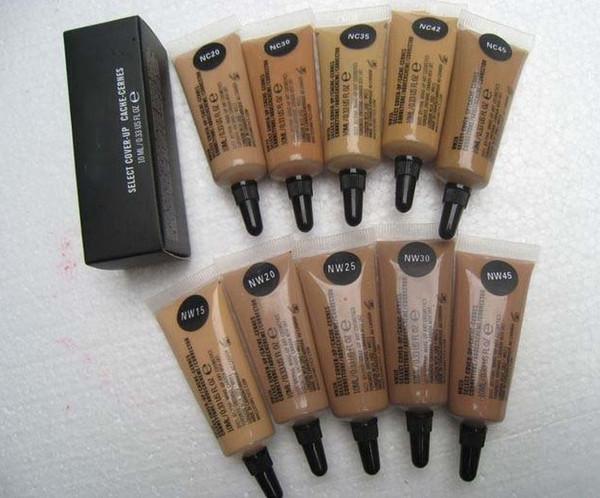 Бесплатная доставка! Горячий новый макияж Выберите Cover Up Concealer Foundation 10 мл смешанного цвета (10 шт. / лот)