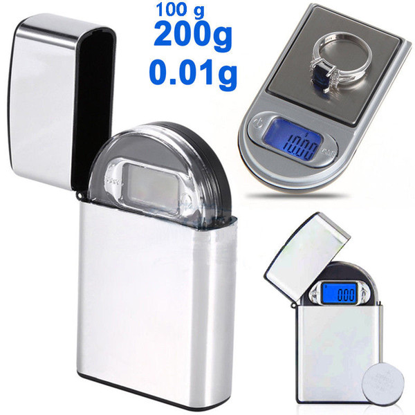200g x 0 01g electronic mini lcd digital pocket lighter type  cale jewelry gold diamond gram  cale with backlight