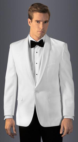 smokings blancos para trajes de los hombres de la boda para hombres pantalón negro adapte a