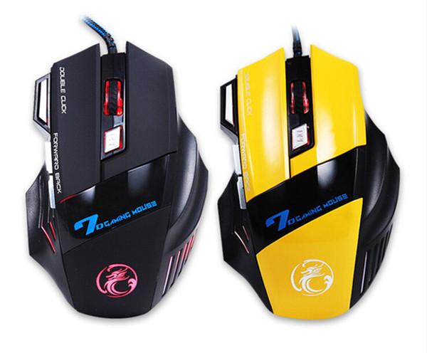 Профессиональный игровой мыши 3200 DPI 7 Кнопки 7D светодиодная оптическая USB мышь Мыши для ноутбуков PC Новое прибытие с относящийся к сети окне DHL свободной Eston