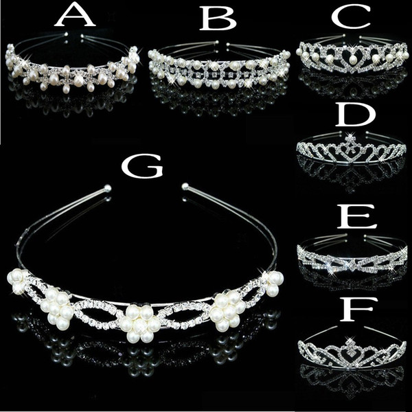 8 Styles Cheap Bridal Tiara Crystals And Pearls Beaded Bridal Head Accessories 2016 Formal Event Hair Wear Free Shipping Rhinestones