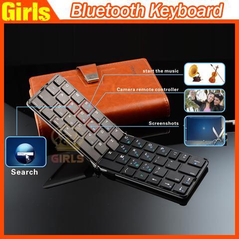 Тонкий дизайн iLepo Bluetooth Клавиатуры iLepo360 Портативный беспроводной клавиатуры Bluetooth для +++ качества ПК портативный компьютер Tablet смартфоны