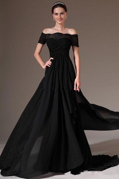 Вечерние платья с открытыми плечами в пол