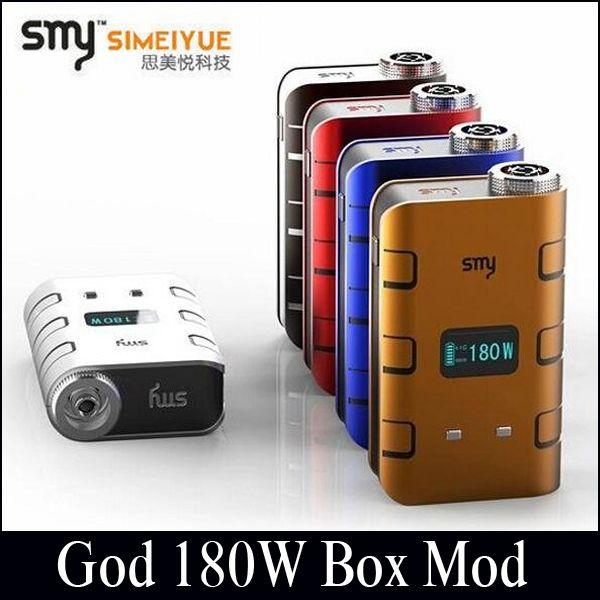 100% Authentische Smy Gott 180w Box Mod 5W-180W Leistungsstarke E-Zigaretten Mod fit ATTY Kleinen Jungen Schwarzen Pferd RDA VTC5 VTC4 18650 Akku