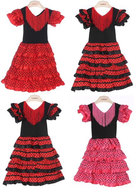 Новые Девушки одеваются красивый испанский танец фламенко платье фламенко плать фото