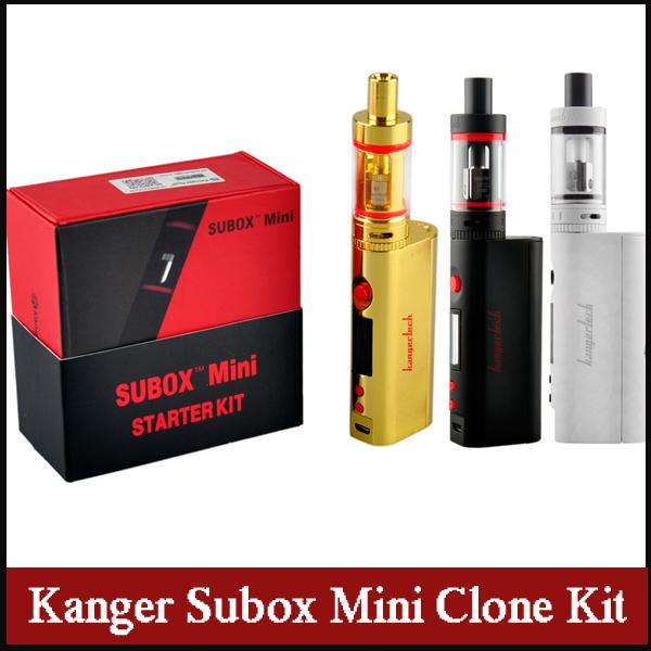 2015 clone Kanger Subox Mini E-cigarro Kits 50W Kanger subox mini-starter kit vs kit nano Kanger subox