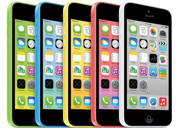 100% original Apple Refurbished iPhone C 5 pulgadas IPS 8GB / 16GB / 32GB desbloqueado teléfono celular IOS8 4.0
