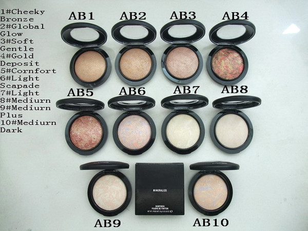 Mineralize kinfini h powder foundation profe ional makeup face pre ed powder foundation with engli h name mini order 12pc