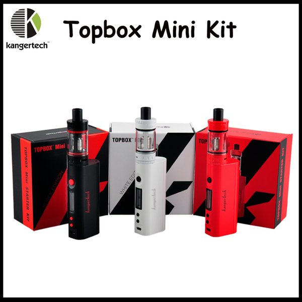1: 1 clone Kanger TOPBOX Mini Starter Kit Preto Platinum Red Branco KangerTech Topbox Mini Kits KBOX Mini 75W TC Mod VS kit topbox nano