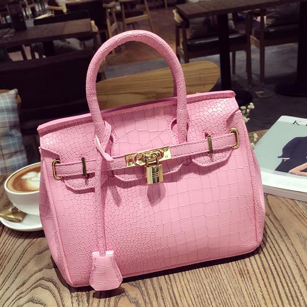 New 2018 platinum bag handbag crocodile grain lady handbag handbag ingle houlder bag