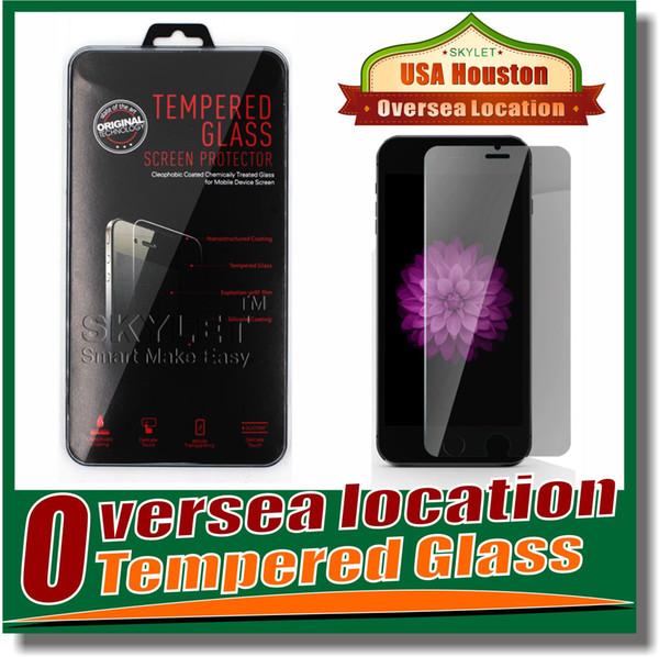 Закаленное стекло экрана протекторы для Iphone 6 6S 2.5D Взрыв протектор экрана LG Stylo2 Galaxy J7 2016 Film S6 0.26mm розничной коробки Обледенение