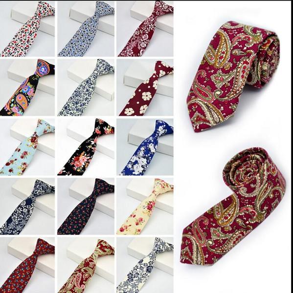 Men tie wedding new fa hion party floral cotton kinny necktie neckwear kinny tie ca ual narrow cotton necktie kka3313