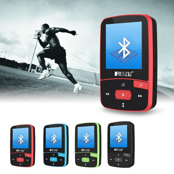 RUIZU X50 Спорт Bluetooth MP3 Музыка MP3-плеер Recorder FM-радио Supprot SD-карта Клип Bluetooth MP3-плеер 8 ГБ фото