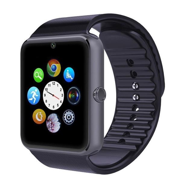 многоязычная! Смарт часы GT08 Clock Sync Notifier поддержки Sim карты Bluetooth для компании Apple iphone телефон Android SmartWatch Watch