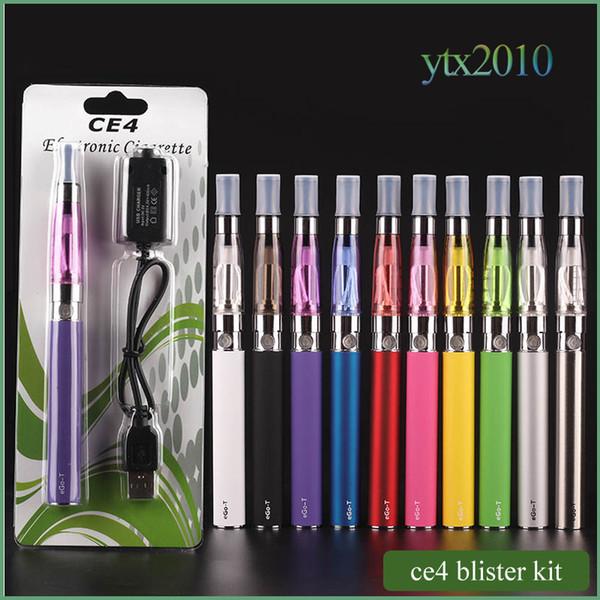 Ego стартовый комплект CE4 пульверизатор Электронная сигарета электронная сигарета комплект 650mAh 900mAh 1100mAh EGO-T батарея блистерной случай Clearomizer Электронная сигарета Dhl