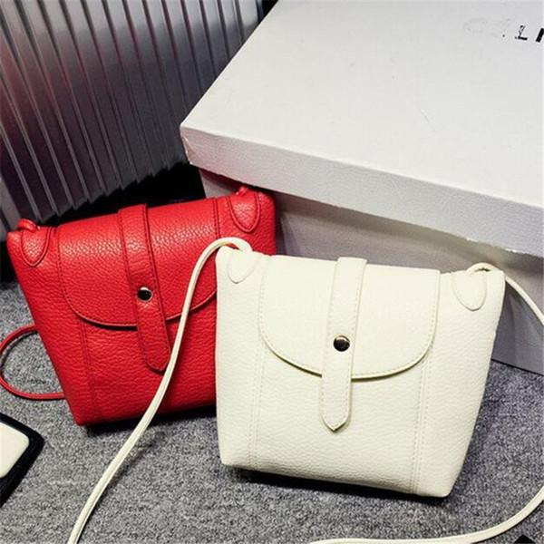 wholesale- woman messenger bag mini clutch purse candy color woman leather handbag small shell bag ladies shoulder bag bolsa new (403911802) photo