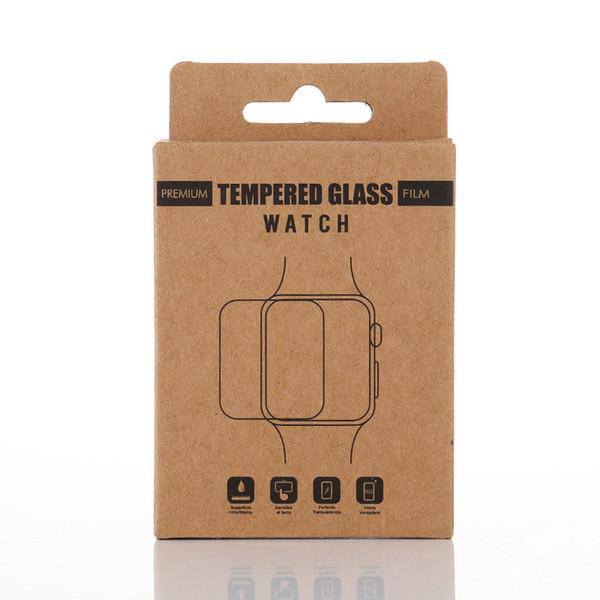 Custom Retail Универсальная Крафт-Бумага Упаковочная Коробка для Apple Watch Закаленное Сте