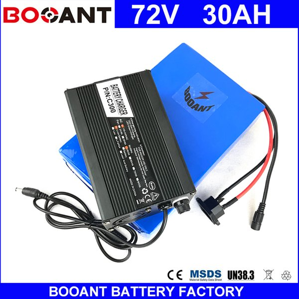 Booant e bike li ion battery pack 72v 30ah for bafang 3000w motor electric bicycle battery with 5a charger 50a bm hipping