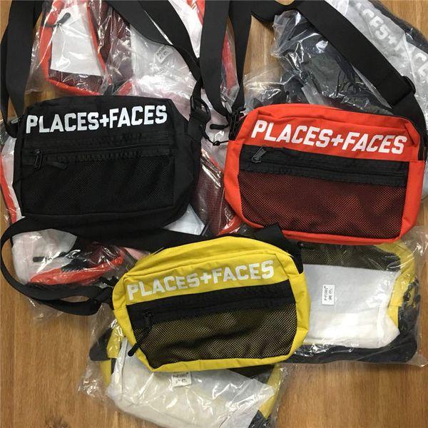 Места + лица жизнь скейтборды 17ss мешок высокое качество привлекательный милый повседневная мужская сумка мини мобильный телефон пакеты сумка для хранения