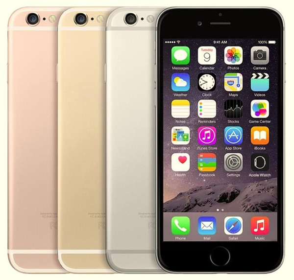 Refurbi hed original apple iphone 6 unlocked cell phone with touch id dual core 16gb 64gb 128gb io 11 4 7 inch 12mp
