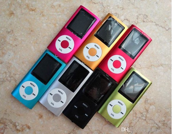 30pc  1 8 inch  creen 4th mp3 mp4 player with card  lot without  peaker voice recorder 9 color  u b cable  earphone  retail boxe