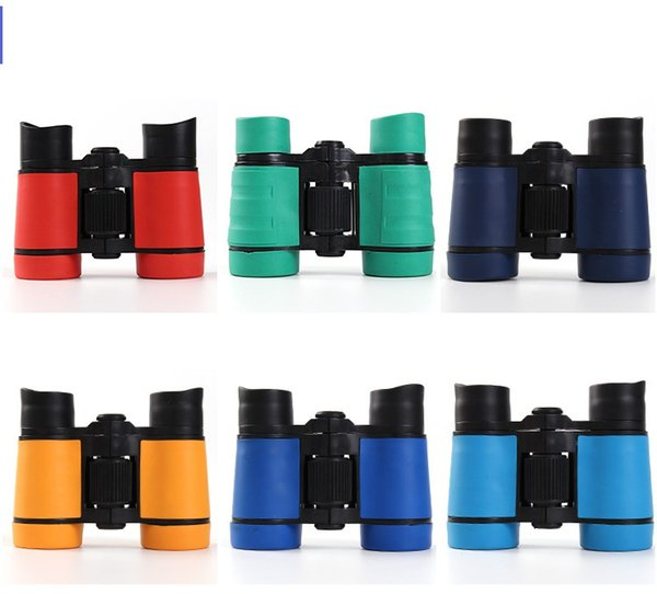 4x30 pla tic children binocular  pocket tele cope maginification for kid  outdoor game  boy  toy  gift 100pc  lot
