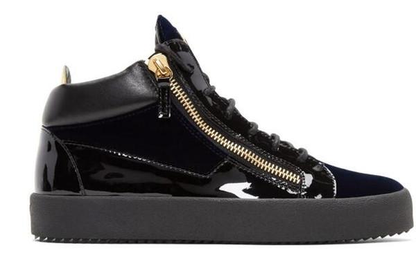 2019 высокое качество zanotty Марка мужская и женская обувь белый geunine кожа высокий топ