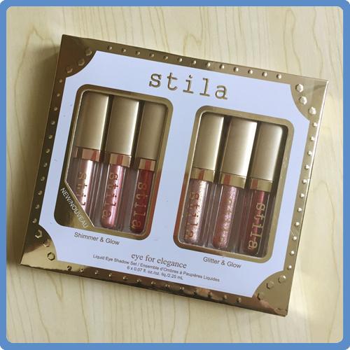 В наличии! Stila глаз для элегантности 6 цветов в 1 комплект блестящий бронзатор золо фото