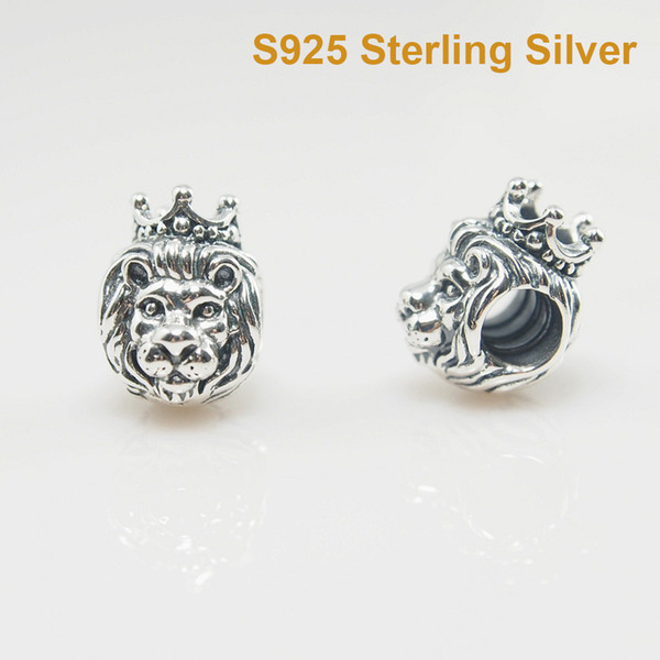 Fit pandora bracelet charm lion charm diy bead olid 925 ilver not plated