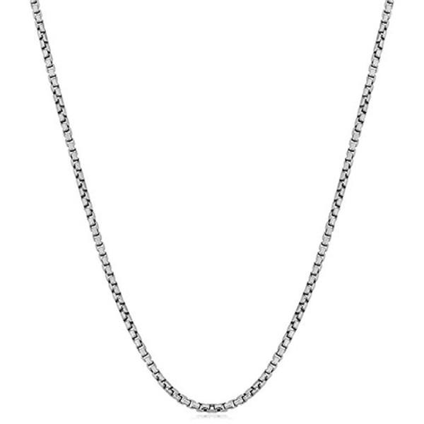 1 мм 2 мм стерлингового серебра 925 коробка цепи ожерелье женщины итальянский созда фото