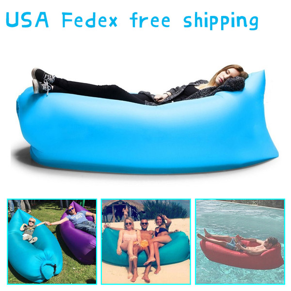 UK / US magazzino Lamzac Siesta originale Immediatamente lamzac gonfiabile Hangout Sdraio Aria divano letto Bag 10 secondi Apertura rapida della base di sonno
