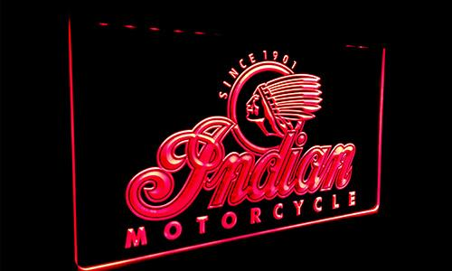 L 087 g indian motorcycle  ervice  logo neon light  ign