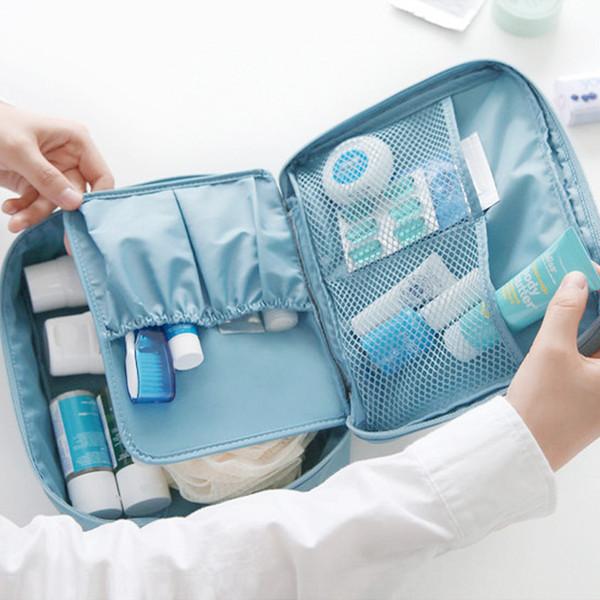Портативный туалетных сумка для мужчин женская путешествия косметический мешок открытый многофункциональный коллекция сумка